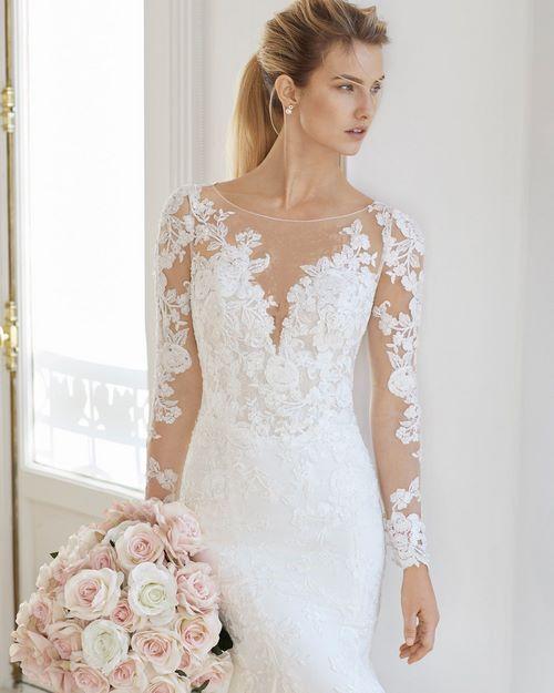 لباس عروس شیک و جدید آستین دار