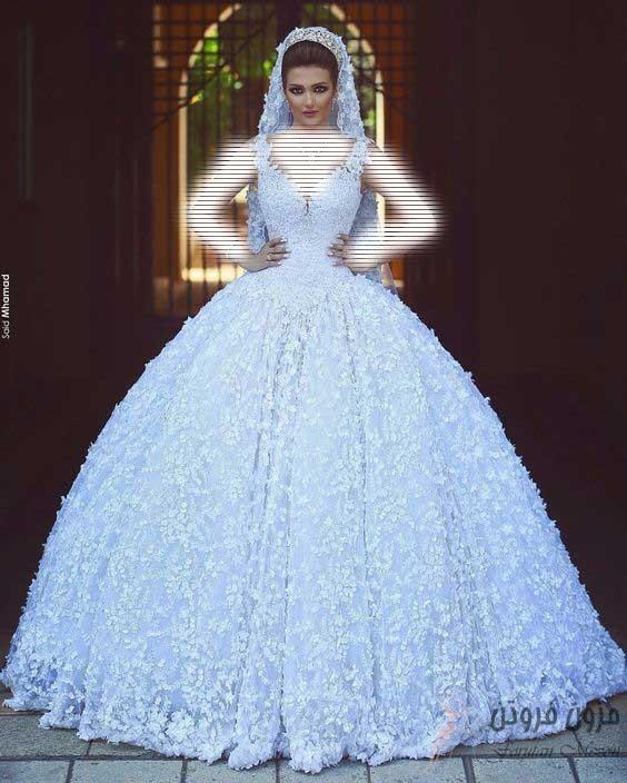 لباس عروس پف دار