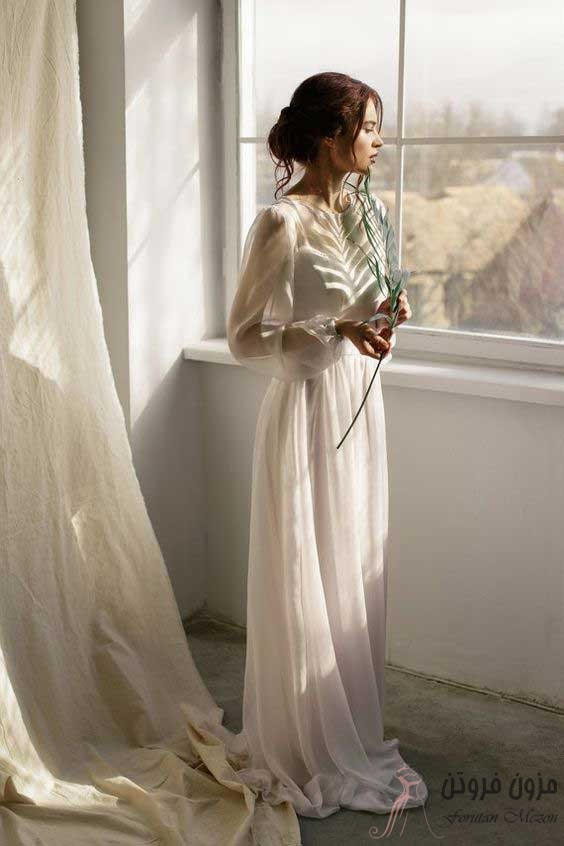 لباس عروس آستین پف دار