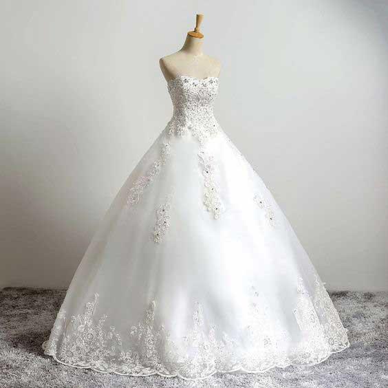 لباس عروس پفی اروپایی