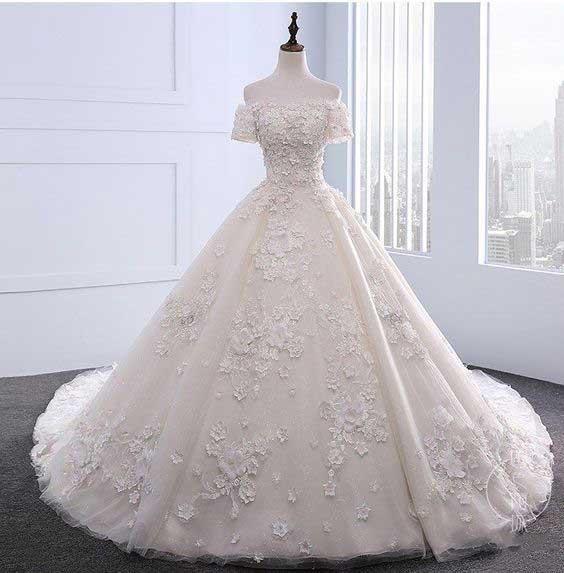 لباس عروس پفی عروسکی