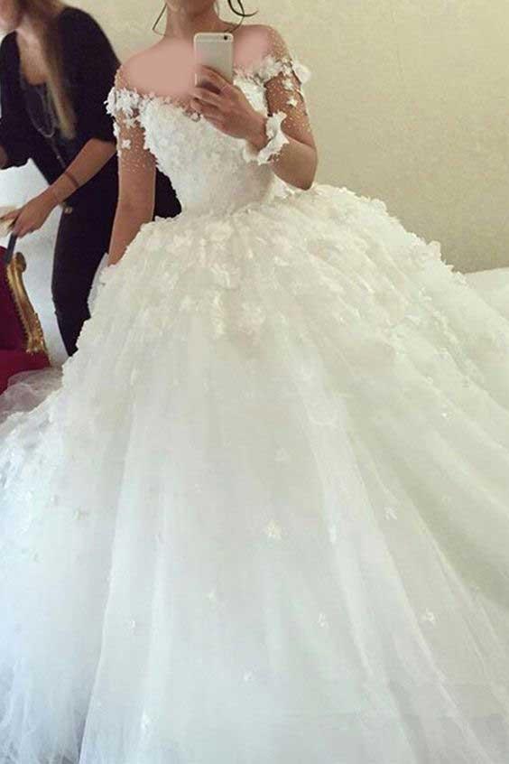 لباس عروس پفی پرنسسی