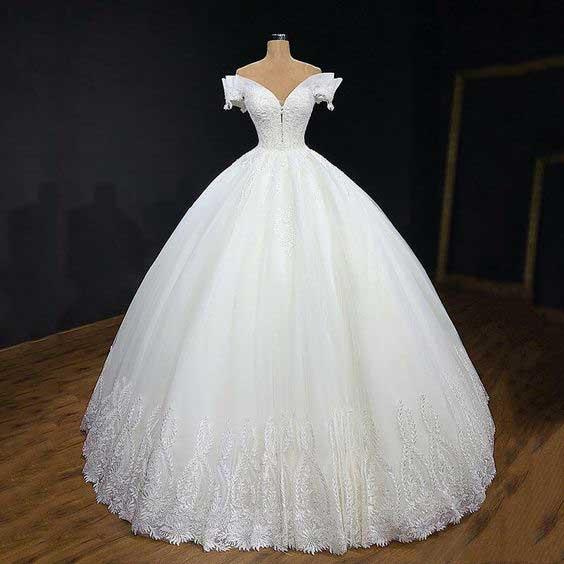 لباس عروس پفی 2019