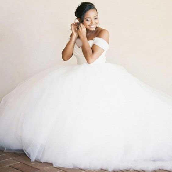 لباس عروس پفی پرنسسی جدید