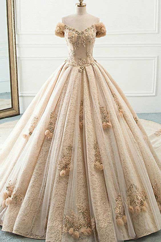 لباس عروس پفی رنگی