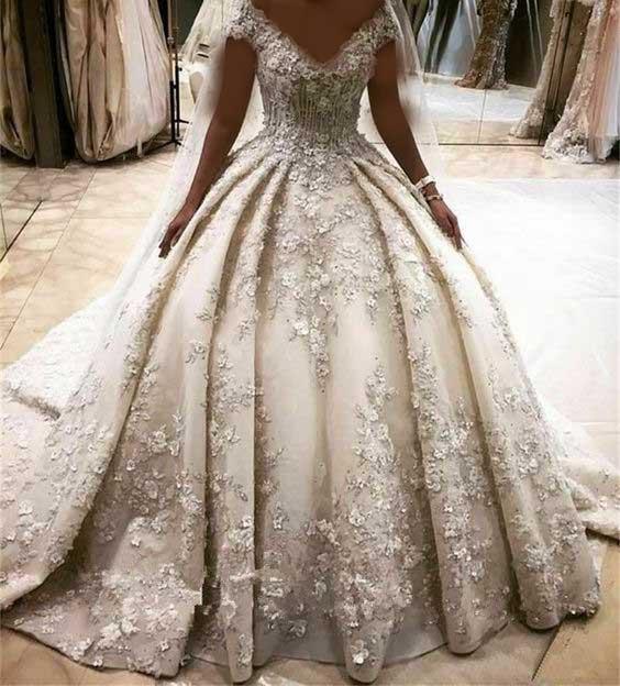 لباس عروس پفی ایرانی
